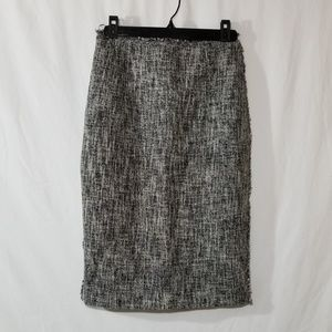 The Fold tweed pencil skirt with raw edge